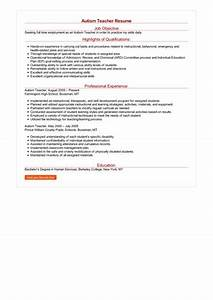 Professional Cover Letter Examples 2 Autism Teacher Resume Samples