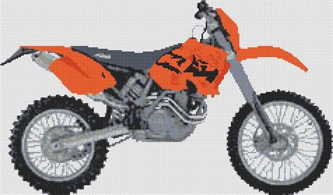 Ktm 450 Exec 2003 Motorcycle Cross Stitch Kit And Chart