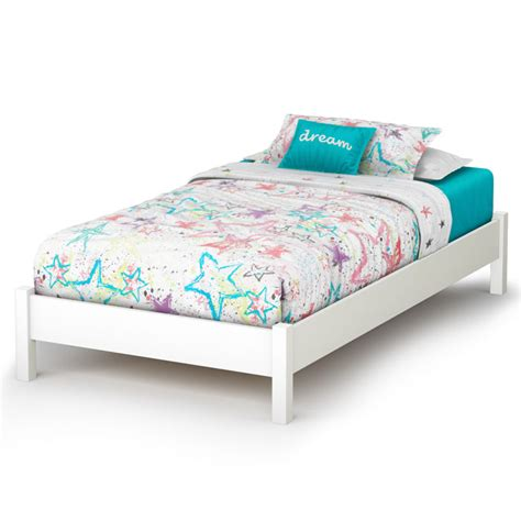 libra contemporary twin white platform bed dcg stores