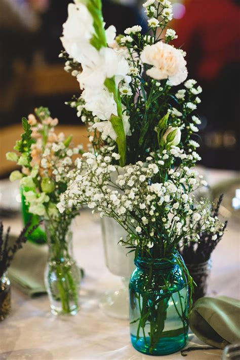 diy wild flower floral arrangements vintage wedding