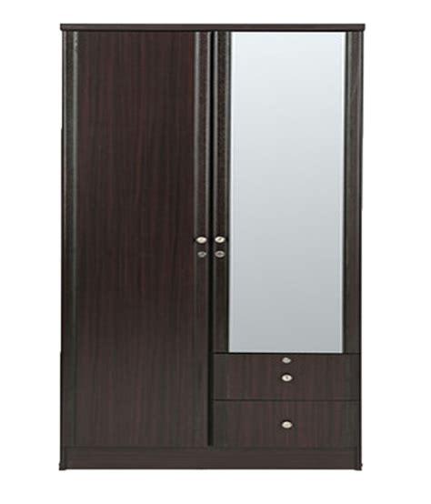 Wood Wardrobe With Mirror by Solid Wood 2 Door Wardrobe With Mirror Buy At Best