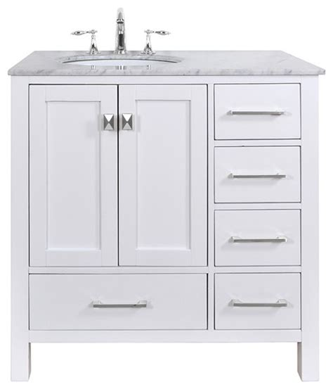 left side sink vanity does this vanity come with the draws on the left side