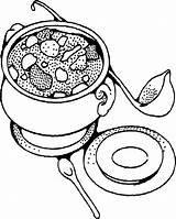 Soup Coloring Bowl Pages Cereal Printable Stone Drawing Template Vegetable Soups Chili Clipart Sc St Getcolorings Ten Drawings Ariel Booklet sketch template