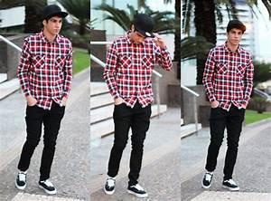 Andre Ferreira - New Era Black Cap Element Shirt Vans Black Pants Vans Authentic - Red plaid ...