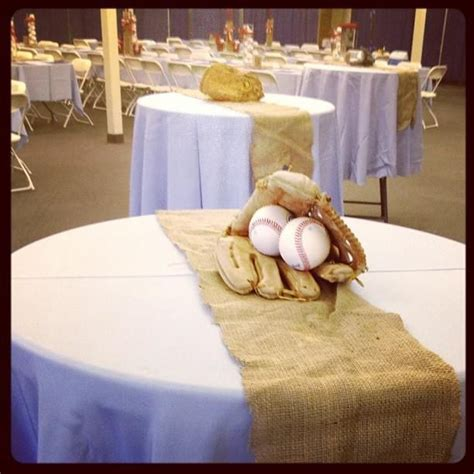 sports centerpieces for tables perfect for baseball banquet baseball pinterest