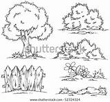 Shrubbery Coloring Template Pages sketch template