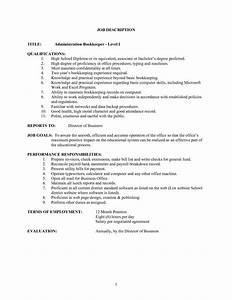 11 Bookkeeper Job Descriptions