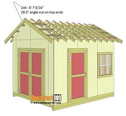 10x12 Gable Storage Shed Plans by Shed Plans 10x12 Gable Shed Step By Step Construct101