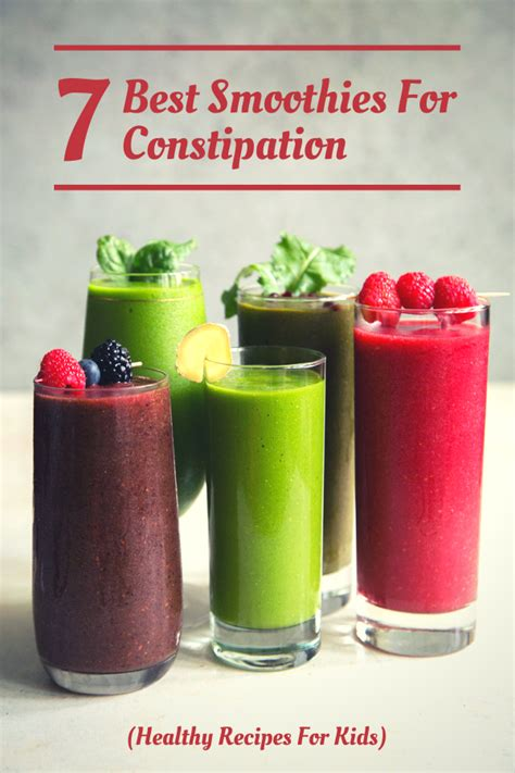 Plus, their nutrients are already primed for digestion thanks to being liquefied first. 7 Best Smoothies For Constipation (Healthy Recipes For Kids) - Superfoodliving.com