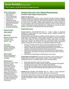resume interior design templates free interior design resume templates resume sles architecture resume exles interior