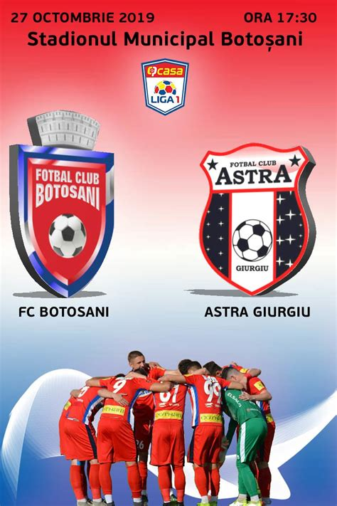All scores of the played games, home and away stats, standings table. FC Botosani - AFC Astra Giurgiu - CASA Liga 1 - 27 oct 2019