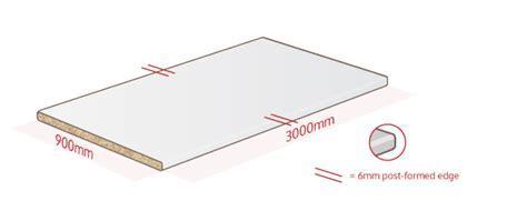 White Laminate Worktop 3000 x 900 x 38mm, Breakfast Bar
