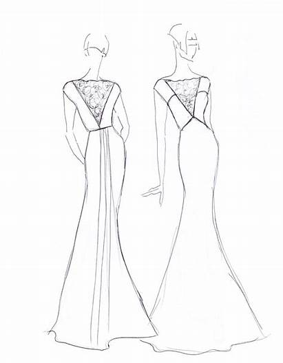Neck Drawing Dresses Covered Lace Open Getdrawings