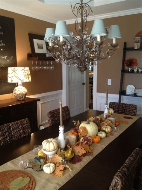 fall formal dining table centerpiece home decor pinterest 30 beautiful and cozy fall dining room décor ideas digsdigs