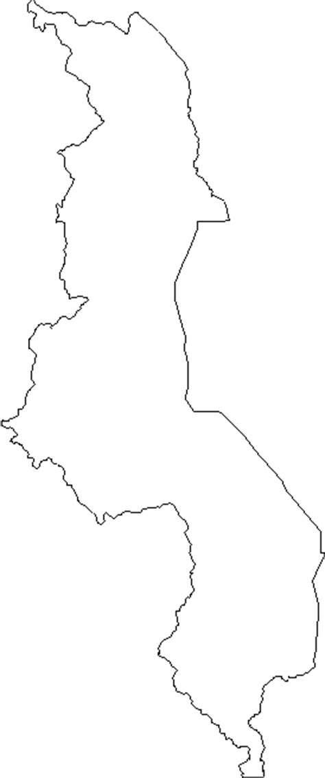 blank outline map  malawi