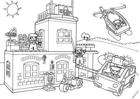 Kleurplaat City by Lego City Printable Coloring Pages Coloring Home