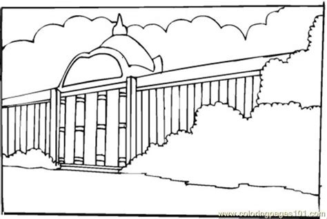 New Big Museum Coloring Page