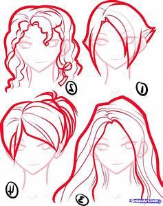How to Draw Anime Hair, Step by Step, Anime Hair, Anime ...