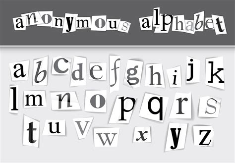 newspaper clipping alphabet set buy  stock template
