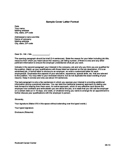 Template Of Cover Letter by Cover Letter Format Template Free