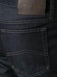 Giorgio armani Slim Fit Jeans in Blue for Men   Lyst