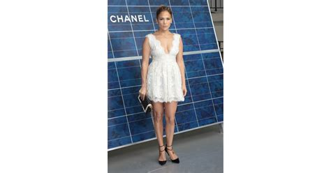 Jennifer Lopez wore a white Chanel dress to attend the ...