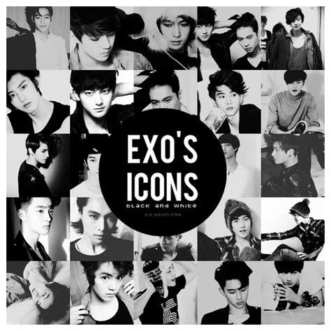 exos icons black  white  kimyounin  deviantart