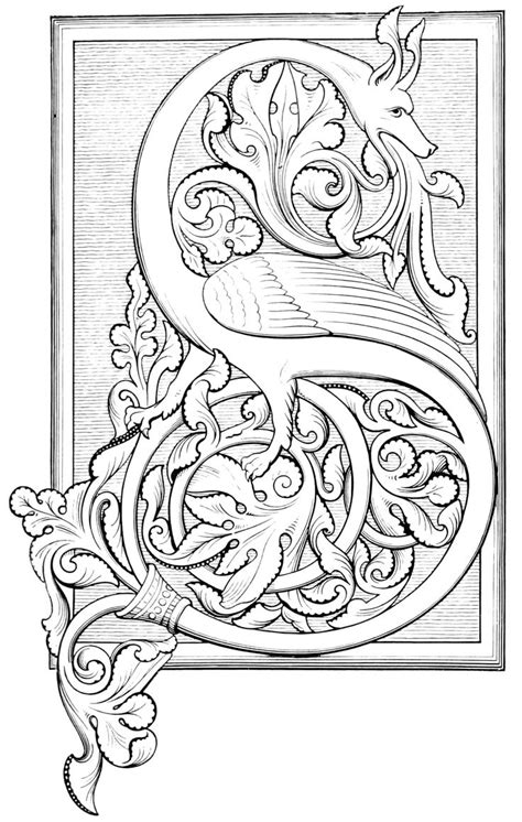 related image illuminated letters alphabet coloring pages illuminated manuscript