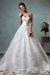 Strapless Sweetheart Neckline Vintage Ball Gown Lace ...