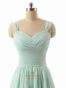 Light Green Chiffon Sweetheart Neckline Knee Length ...