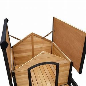 Dog kennel w patio raised floor asphalt roof windows for Sound proof dog bed