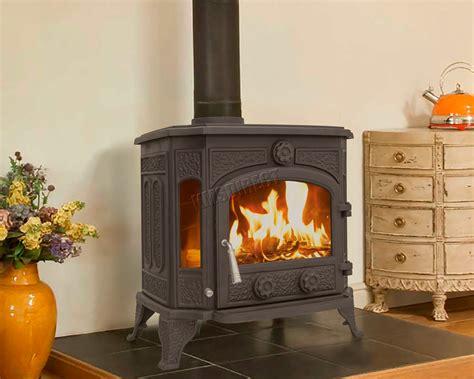 woodburner cast iron log burner multifuel wood burning stove kw tr  black