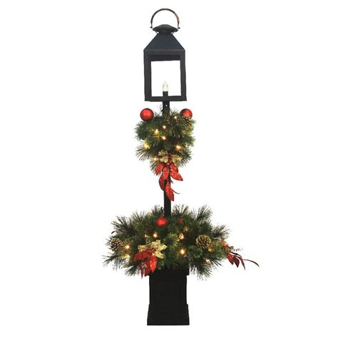 home depot winterberry outdoorlit tree home accents 4 ft pre lit artificial