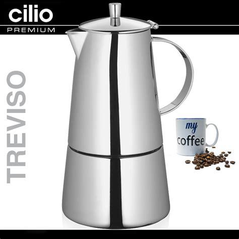 cilio espresso cilio espressokocher treviso culinaris k 252 chenaccessoires