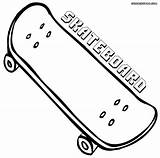 Skateboard Coloring Pages Deck Tech Printable Cool Boy sketch template