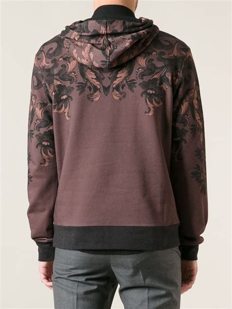 dolce gabbana floral print hoodie  black  men lyst