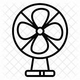 Fan Electric Drawing Icon Household Appliance Line Device Clipartmag sketch template