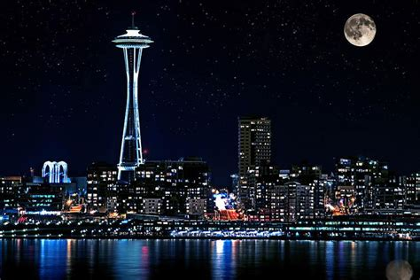 seattle skyline wallpaper  wallpapersafari