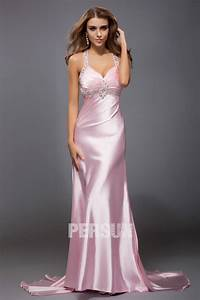 wholesale straps beading ruching a line sexy satin prom With robe longue paillettes strass
