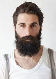 Beard with Slicked Back Hair