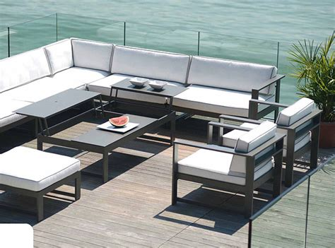 salon de jardin metallique rausch summer lounge