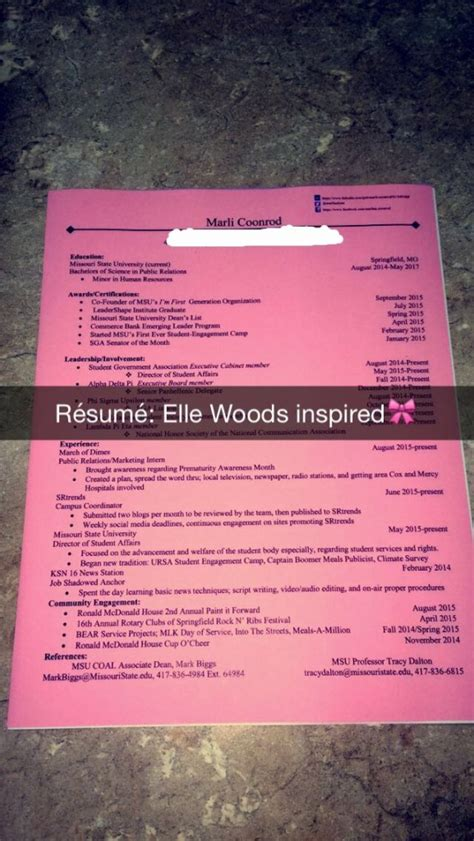 Could You Send Me Your Resume by Total Sorority Move An Woods Inspired R 233 Sum 233 Tsm