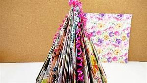 Tannenbaum Selber Basteln : mini weihnachtsbaum selber machen bunten tannenbaum basteln aus zeitschiften geschenk youtube ~ Yasmunasinghe.com Haus und Dekorationen