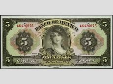 Mexico 5 Pesos banknote 1934 Gypsy Girl