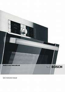 Bosch Hap3331 Single Fan Oven Manuals