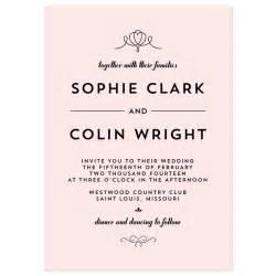 how to write wedding invitations modern deco invitation sle crafty pie press