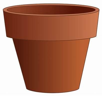 Pot Clay Clip Simple Onlinelabels Svg