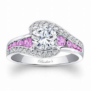 Barkev39s pink sapphire engagement ring 7898lps for Wedding rings with pink