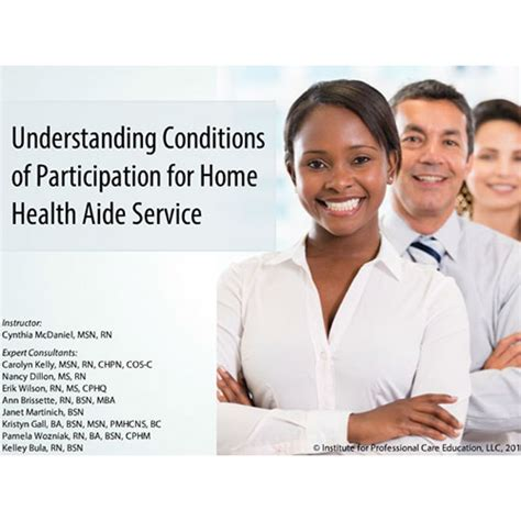 Home Health Aides by Understanding Conditions Of Participation For Home Health