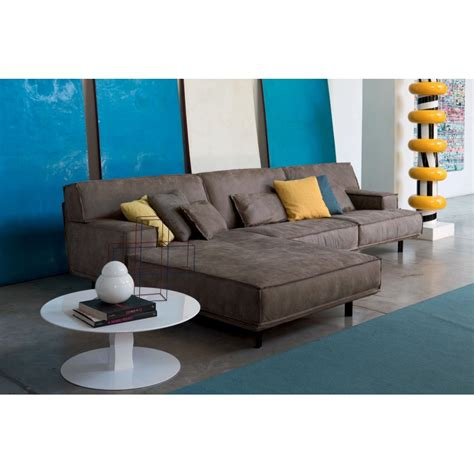 canapé chaise longue canapé italien avec chaise longue lancaster tissu